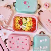 日式可愛卡通餐具碗便當盒早餐午餐學生飯盒男女生便攜雙層泡面碗 美芭