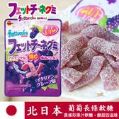 日本 北日本 Fettuccine 長條葡萄軟糖 50g 葡萄軟糖 長條軟糖 軟糖 BOURBON