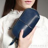 女士錢包 新款歐美牛皮簡約時尚化妝包零錢包拉錬手拿包 科炫數位