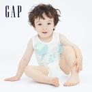 Gap嬰兒 Gap x Disney 迪士尼系列無袖包屁衣 691265-白色