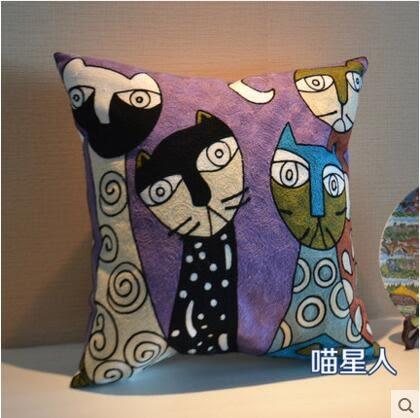 梵古民族風全棉刺繡抱枕靠墊套床頭客廳沙發汽車抱枕套含芯靠腰枕