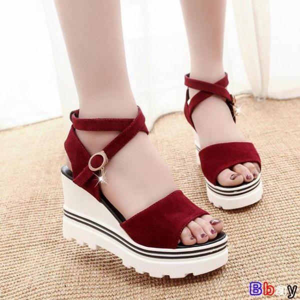 楔型涼鞋 坡跟魚嘴鞋 羅馬涼鞋 鬆糕 厚底 高跟鞋
