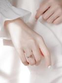 戒指 貓咪草莓晶小眾設計戒指女純銀日式少女心ins開口招桃花轉運戒指