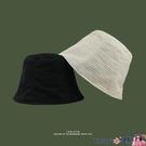 熱賣漁夫帽 日本小眾設計師款漁夫帽女雪紡薄款冷淡風禁欲系水桶帽時尚百搭夏【618 狂歡】