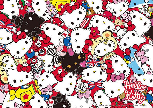 【拼圖總動員 PUZZLE STORY】歷代Kitty大集合 日本進口拼圖/Beverly/Hello Kitty/108P