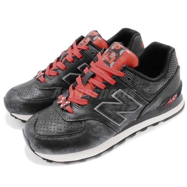 【六折特賣】New Balance 復古慢跑鞋 NB 574 黑 紅 Disney 米妮 迪士尼 休閒鞋 女鞋【PUMP306】 WL574DMMB