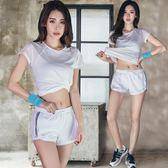 【熊貓】健身服瑜伽服寬鬆網紗速干跑步健身運動套裝