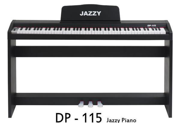 【奇歌】音色試聽。Jazzy 88鍵重鎚力度感應 電鋼琴,三踏板+雙耳機,DP115 非電子琴 鋼琴