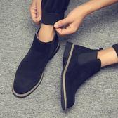 冬季新款馬丁靴男士短靴英倫切爾西靴保暖雪地棉靴男靴子韓版皮靴