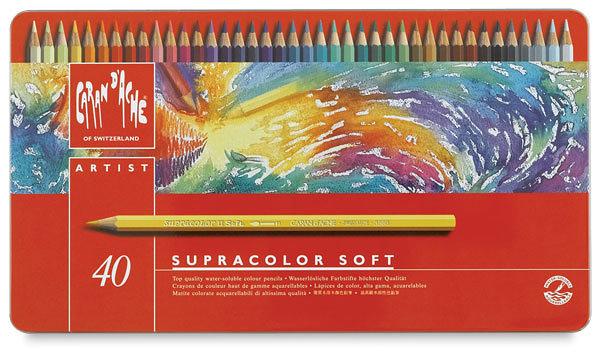 瑞士Caran d'Ache卡達Supracolor系列專家級40色水性彩色鉛筆* 3888.340