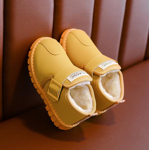 兒童雪地靴男童中筒靴子加絨寶寶棉靴防水2020新款冬季鞋女童短靴