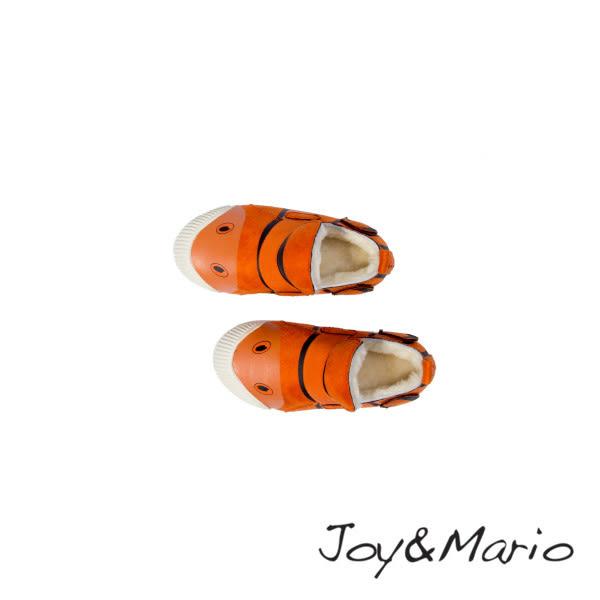 【Joy&Mario】尼莫小童絨毛平底鞋 - 63107C SAFFRON