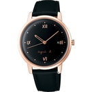agnes b. marcello系列手寫時標經典腕錶 VJ32-KZD0K BG8011X1
