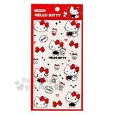 〔小禮堂〕Hello Kitty 造型燙金透明貼紙《紅白.提袋》裝飾貼.包裝禮物.黏貼用品 4714581-30793