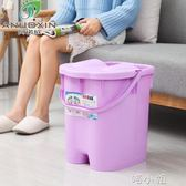 帶蓋加高加厚足浴桶深桶按摩保溫洗腳泡腳桶足浴盆塑料洗腳盆大號 igo