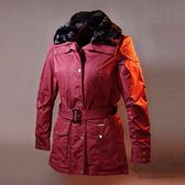 【ST.MALO】英式經典訂織格紋羊駝蓄暖大衣-1730WJ-深紫紅