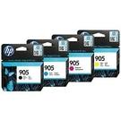 HP NO905原廠4色墨水匣組(T6M01AA/T6L89AA/T6L93AA/T6L97AA) 適用OJ Pro8210/8720/8740(原廠品)
