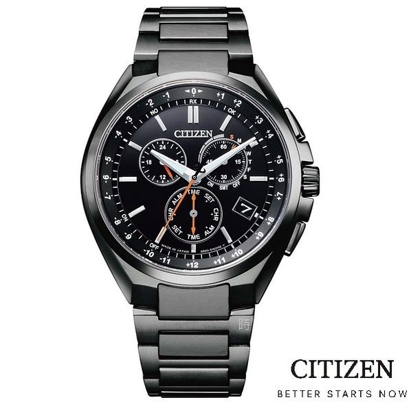 CITIZEN 光動能 電波計時 萬年曆鈦金屬 CB5045-60E 手錶 /41.5mm