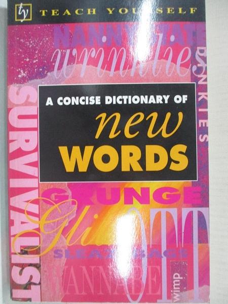 【書寶二手書T1/字典_BLE】A Concise Dictionary of New Words_B. A. Phythian, Richard Cox