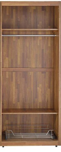 【森可家居】查爾斯2.7尺雙色單吊鐵籃衣櫃-3號單只  7JF133-3 木紋質感 北歐工業風 衣櫥