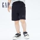Gap男幼童 Logo寬鬆運動短褲 808227-黑色