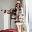 毛呢兩件套裝外套+短裙(S-XL可選)/設計家 Q3588