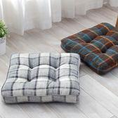 坐墊 日式棉麻地板墊 亞麻現代簡約加厚坐墊電腦餐椅墊秋冬加厚