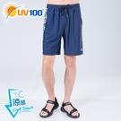 UV100 防曬 抗UV-涼感印花拼接運動/戲水短褲-男