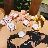 夏季 休閒新款 手錶簡約學生石英表日系少女小清新布帶圓表綁帶腕表 週年慶降價