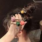 髮圈-韓國糖果色方塊鑽石髮圈 洗臉髮帶 手鍊【AN SHOP】