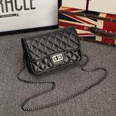 3色 小包包斜背鏈條包春夏女包歐美時尚潮流菱格單肩包包 巴黎時尚生活