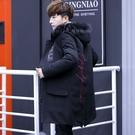 羽絨外套韓版外套 棉服男士棉衣 夾克外套加絨羽絨服 連帽加厚男生外套 中長款冬季男士外套