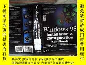 二手書博民逛書店WINDOWS罕見98 INSTALLATION CONFIGURATION HANDBOOK WINDOWS 9
