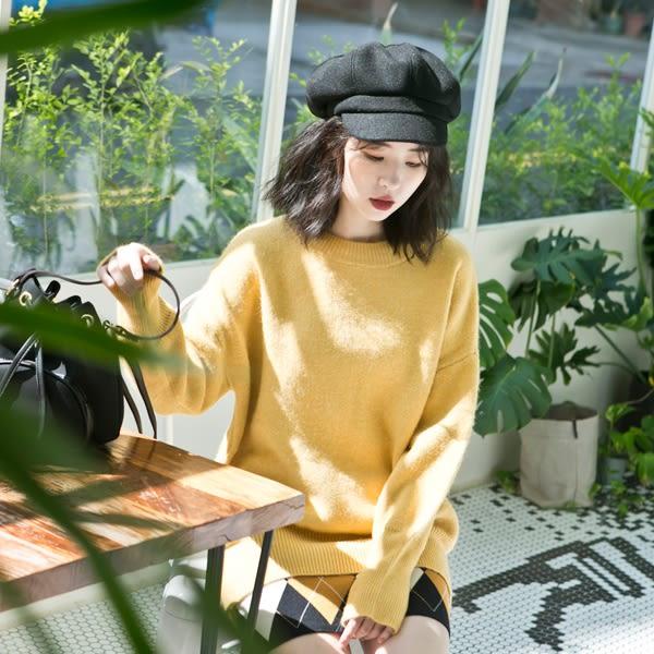 LULUS特價-Y厚磅側開叉針織上衣-4色  現+預【01052776】