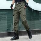 工作褲男勞保耐磨純棉寬鬆電焊迷彩工裝褲子男士工人焊工勞保褲男 探索先鋒