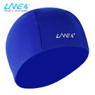 LANE4羚活POLYESTER舒適彈性泳帽 - 藍印白