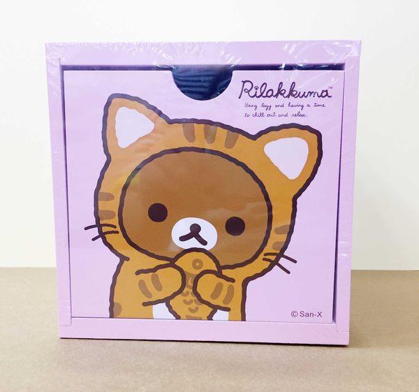 【震撼精品百貨】Rilakkuma San-X 拉拉熊懶懶熊~積木置物盒-粉色底