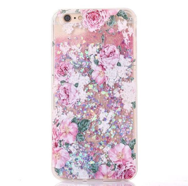 蘋果 手機殼 iPhone7 iPhone6 plus i6s i7 軟邊 流沙 田園風 碎花 手機套 保護套 保護殼