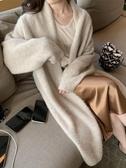 針織外套 秋季新款慵懶風氣質時尚毛衣寬松羊絨針織開衫中長款外套女士 完美計劃