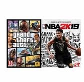 【限量】PC 俠盜獵車手 5 GTA5 亞中英文版  送 PC NBA 2K19 一般版 亞中英版