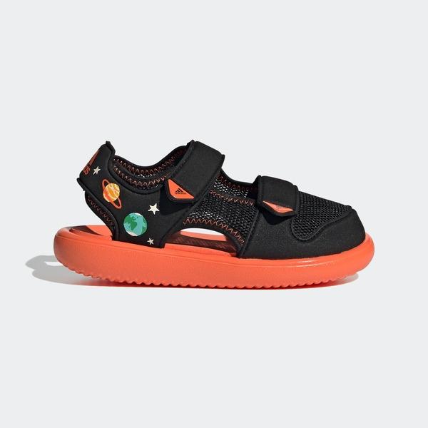 Adidas Water Sandal Ct C [GX2473] 中童鞋 涼鞋 運動 休閒 舒適 保護 愛迪達 黑 橘