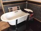 【麗室衛浴】美國 KOHLER Lovee™系列 K-9271T-GR-0 鑄鐵獨立缸 含毛巾架 1700×750×567mm