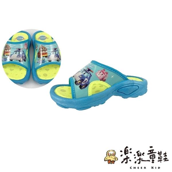 【樂樂童鞋】台灣製波力防滑拖鞋 P047 - MIT童鞋 台灣製童鞋 拖鞋 室內拖鞋