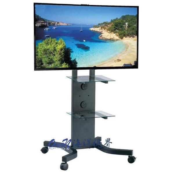 【海洋視界PLAB-1031】台灣製造(37-65吋)電視移動站立架 液晶電視落地立架推車 會議視訊系統架
