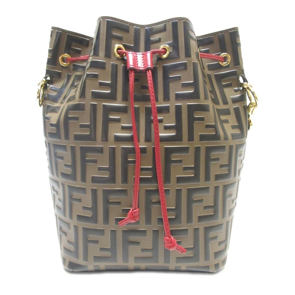 FENDI 小牛皮拼色水桶包 Mon Tresor Bucket Bag with Drawstring【BRAND OFF】