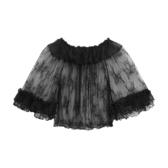 Mary蕾絲Lolita內搭短袖夏季一字領輕薄喇叭袖罩衫上衣