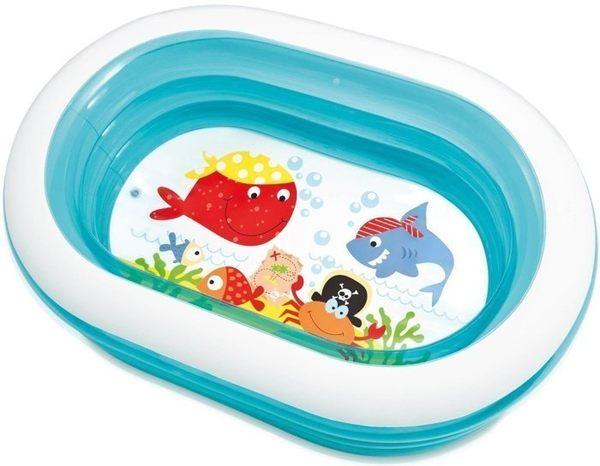 *粉粉寶貝玩具*INTEX 57482橢圓透明戲水池~游泳池/球池~163*107*46公分