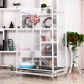 (低價促銷)貓籠子方管貓籠大型貓 貓籠子別墅三層大二層雙層 寵物籠繁殖貓咪籠XW