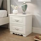 床頭櫃白色烤漆簡約現代歐式特價臥室邊櫃儲物櫃多功能經濟型40cmQM 依凡卡時尚