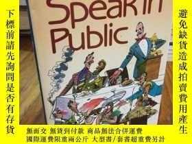 二手書博民逛書店How罕見to Speak in PublicY12800 Al